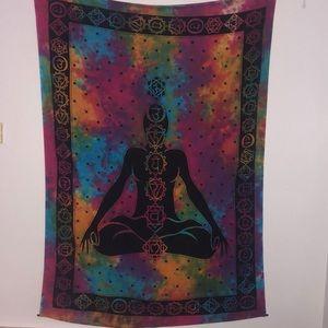 Meditation chakra tapestry